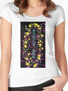Hello Sunshine Glitter Women's Fitted Scoop T-Shirt