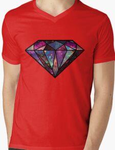 TRIPPY DIAMOND Mens V-Neck T-Shirt