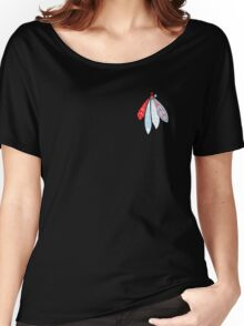 Blackhawks Feathers - Chicago Theme  Women's Relaxed Fit T-Shirt
