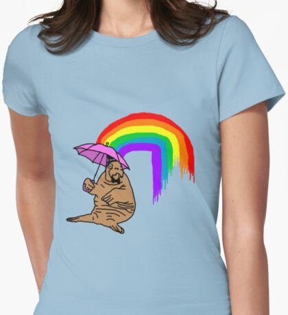 Classy Walrus Womens Fitted T-Shirt