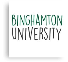 Binghamton University - HANDWRITTEN  Canvas Print