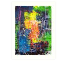 Blocks - Lines Art Print