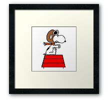 flying pilot snoopy fun Framed Print