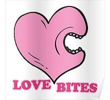 love bites biting heart Poster
