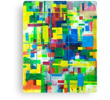 Blocks - Grid Canvas Print