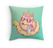 Be awesome! Throw Pillow