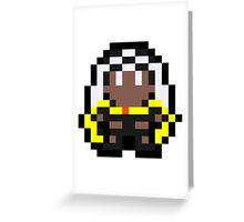 Pixel Storm Greeting Card
