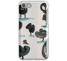 the shape of swans iPhone Case/Skin