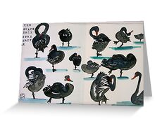 the shape of swans Greeting Card