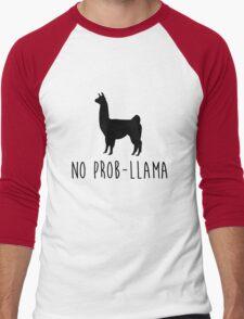 No Prob-Llama Men's Baseball ¾ T-Shirt