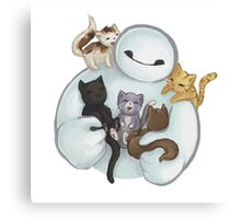 love it baymax cat Canvas Print