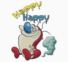 Happy Happy Stimpy Gas Kids Tee