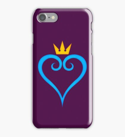 Kingdom Hearts Crown and Heart Emblem iPhone Case/Skin