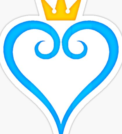Kingdom Hearts Crown and Heart Emblem Sticker