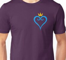 Kingdom Hearts Crown and Heart Emblem Unisex T-Shirt
