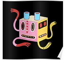 Petit monstre cube Poster