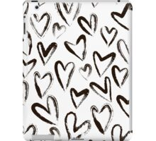 Ink black hearts iPad Case/Skin