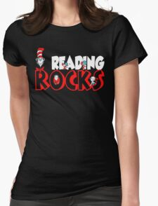 READING ROCKS Womens Fitted T-Shirt