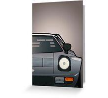 Modern Euro Icons Car Series Lancia Stratos HF Tipo 829 Split Greeting Card