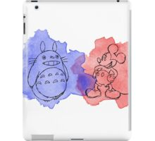 watercolour totoro iPad Case/Skin