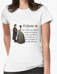 Outlander Wedding Vow Womens Fitted T-Shirt