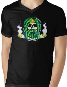 Pirate Smoke Weed Pot Marijuana Funny Men's Tshirt Mens V-Neck T-Shirt
