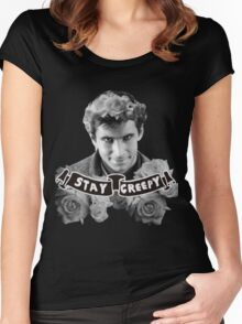 Norman Bates | Stay Creepy Women's Fitted Scoop T-Shirt