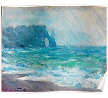 1886-Claude Monet-Regnvær, Etretat-60 x 73 Poster