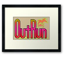 OutRun SEGA Arcade Vaporwave Logo Framed Print