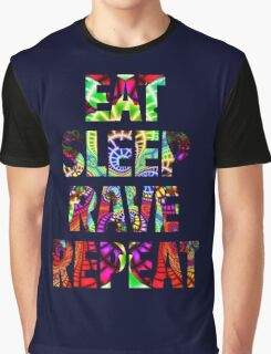 Eat Sleep Rave Repeat Graphic T-Shirt