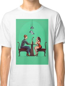Couple in restaurant Classic T-Shirt