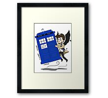 Castiel Has The Phone Booth Framed Print
