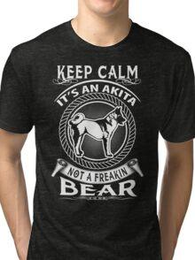 AKITA DOG Tri-blend T-Shirt