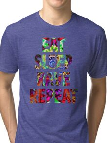 Eat Sleep Rave Repeat Tri-blend T-Shirt