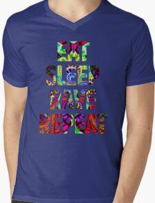 Eat Sleep Rave Repeat Mens V-Neck T-Shirt