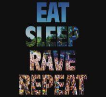 Eat Sleep Rave Repeat Baby Tee