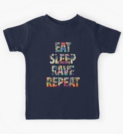 Eat Sleep Rave Repeat Kids Tee
