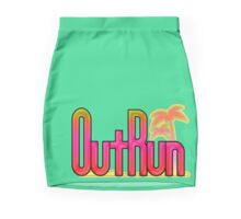 OutRun SEGA Arcade Vaporwave Logo Mini Skirt