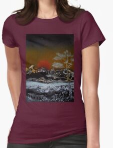 Japanese Sunset Womens Fitted T-Shirt