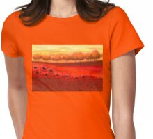 Magic Red Poppy Field Womens Fitted T-Shirt
