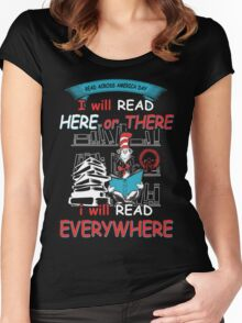 Read Across America - I will Read Every where Women's Fitted Scoop T-Shirt