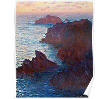 1886-Claude Monet-Rocks at Belle-lle, Port-Domois-65 x 81 Poster