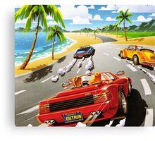 California OutRun SEGA utopian heaven arcade racer Canvas Print