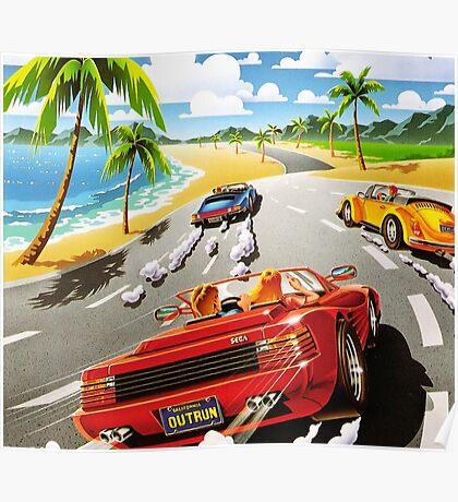 California OutRun SEGA utopian heaven arcade racer Poster