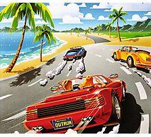 California OutRun SEGA utopian heaven arcade racer Photographic Print