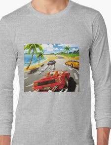 California OutRun SEGA utopian heaven arcade racer Long Sleeve T-Shirt