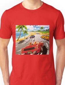 California OutRun SEGA utopian heaven arcade racer Unisex T-Shirt
