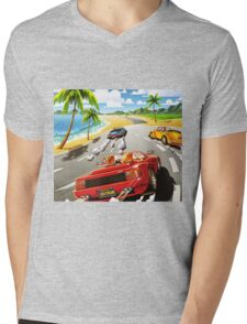 California OutRun SEGA utopian heaven arcade racer Mens V-Neck T-Shirt