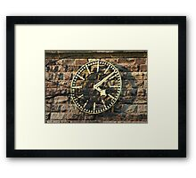 One Face of the Clock of Tarvin Church, Cheshire Framed Print