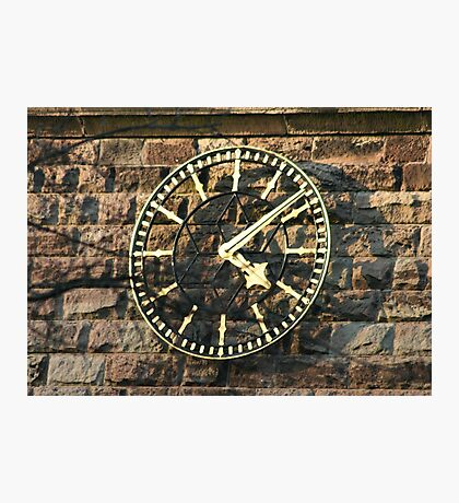 One Face of the Clock of Tarvin Church, Cheshire Photographic Print